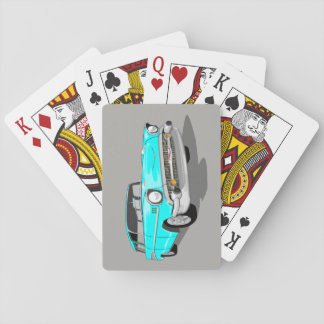 1957 Nomad Playing Cards in Light Blue