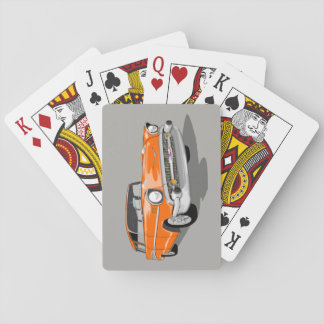 1957 Nomad Playing Cards in Orange