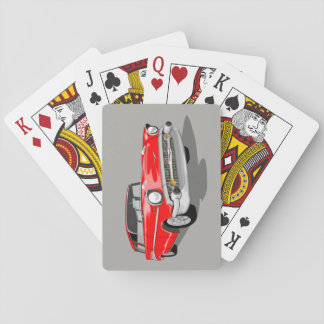 1957 Nomad Playing Cards in Red