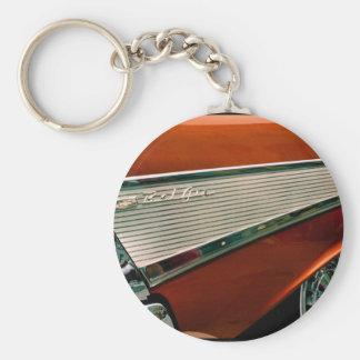 1957 obra clásica BelAir Chevy Llavero Redondo Tipo Pin