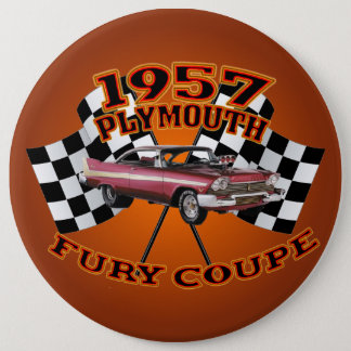 1957 Plymouth Fury Coupe Button. Pinback Button