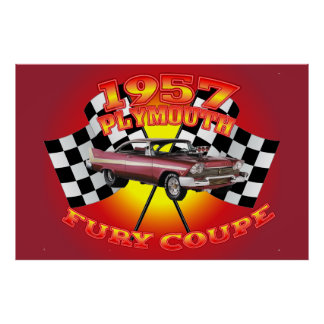 1957 Plymouth Fury Coupe Poster. Poster