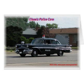 1957 Pontiac Laurentian Police Car Card