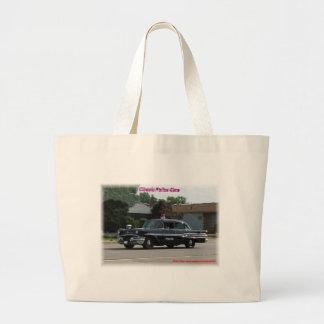 1957 Pontiac Laurentian Police Car Large Tote Bag