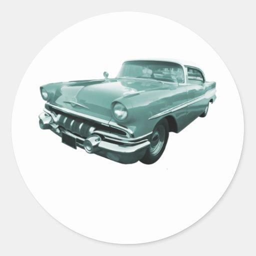 1957 Pontiac Star Chief Classic Round Sticker