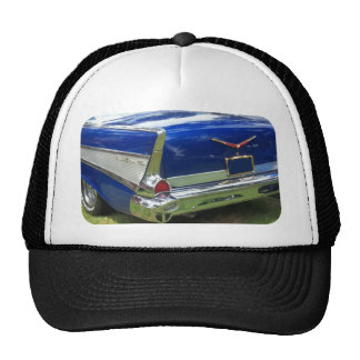 1957 Rear Fin and Fender of a blue chevy Trucker Hat
