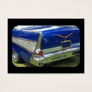 1957 rear fin in deep metalic blue business card