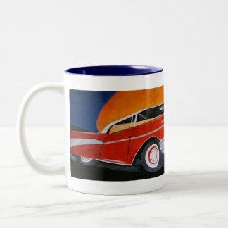 1957 red chevy coffee mug