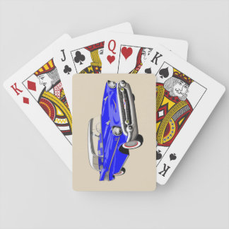 1957 Shoebox Playing Cards in Blue and White