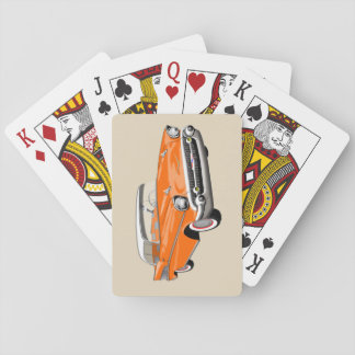 1957 Shoebox Playing Cards in Orange and White