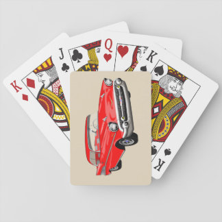 1957 Shoebox Playing Cards in Red