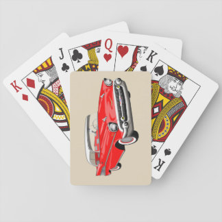 1957 Shoebox Playing Cards in Red and White