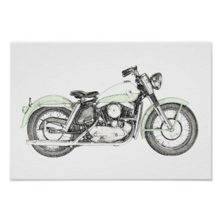 1957 Sportster Motorcycle Poster