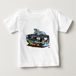 1958-60 Corvette Black Convertible Baby T-Shirt