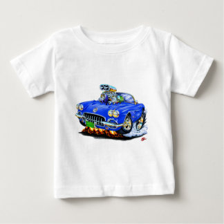 1958-60 Corvette Blue Convertible Baby T-Shirt