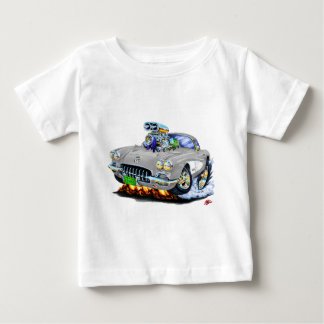 1958-60 Corvette Grey Car Baby T-Shirt