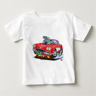 1958-60 Corvette Red Car Baby T-Shirt