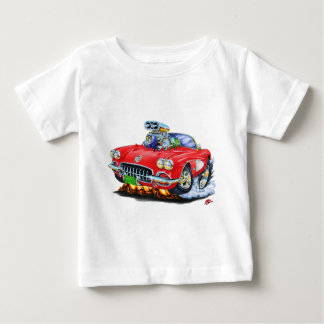 1958-60 Corvette Red Convertible Baby T-Shirt