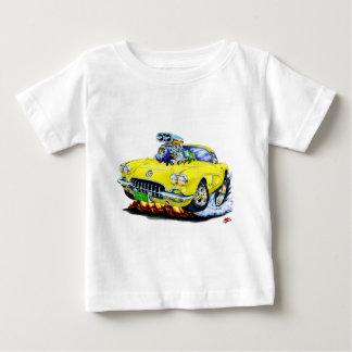 1958-60 Corvette Yellow Car Baby T-Shirt