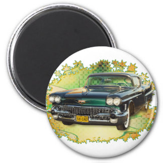 1958 CADILLAC #2 2 INCH ROUND MAGNET