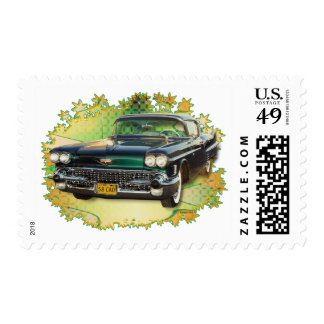 1958 CADILLAC #2 POSTAGE STAMP