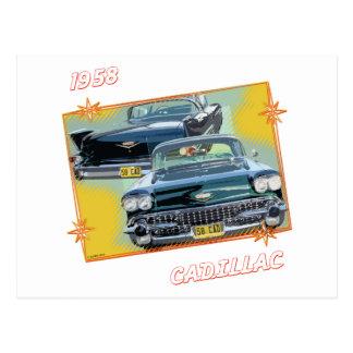 1958 CADILLAC 3 POSTCARD