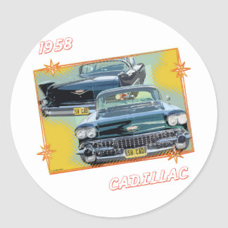 1958 CADILLAC 3 ROUND STICKERS