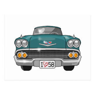 1958 Chevrolet Impala Postcard