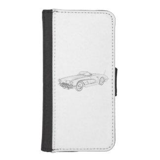 1958 Chevy Corvette iPhone 5 Wallet Cases