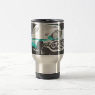 1958 chevy impala bright blue classic car travel mug