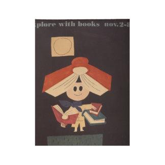 1958 Children's Book Week Wood Poster