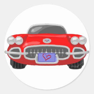 1958 Corvette Classic Round Sticker