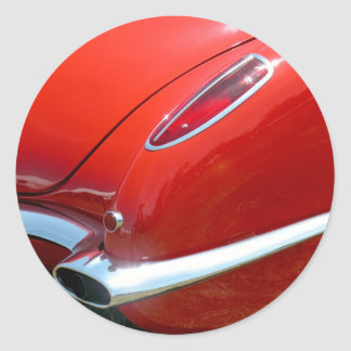 1958 Corvette Classic Round Sticker