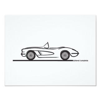 1958 Corvette Convertible 4.25x5.5 Paper Invitation Card