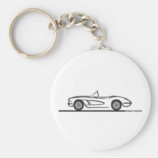 1958 Corvette Convertible Keychain