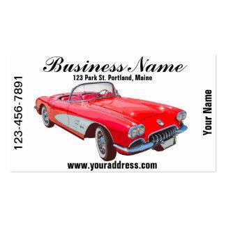 1958 Corvette Convertible Red Classic Car Business Card Templates