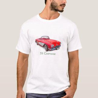 1958 Corvette Convertible Red Classic Car T-Shirt
