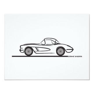 1958 Corvette Hardtop 4.25x5.5 Paper Invitation Card