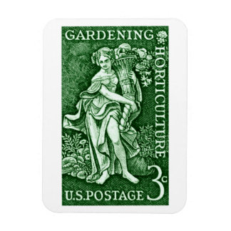 1958 Gardening + Horticulture Stamp Rectangular Photo Magnet