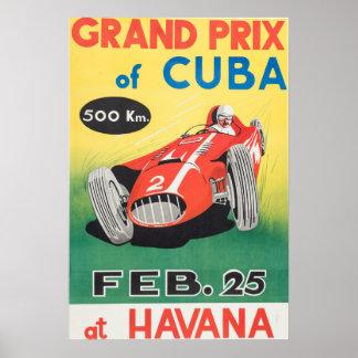 1958 Grand Prix Of Cuba Poster