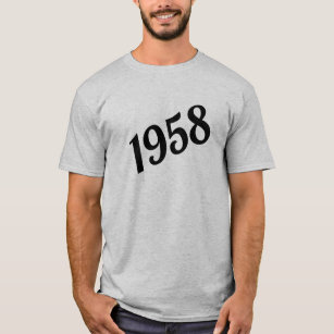 1958 Happy 60th Birthday T Shirt
