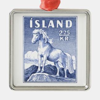 1958 Icelandic Horse Postage Stamp Metal Ornament
