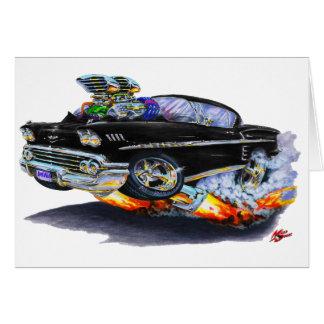 1958 Impala Black Car Card