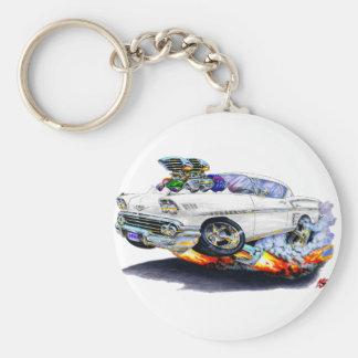 1958 Impala White Car Keychain