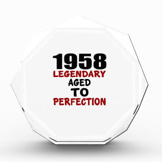 1958 LEGENDARY AGED TO PERFECTION AWARD