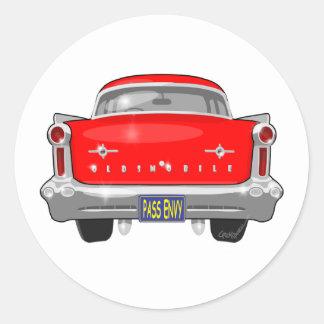 1958 Oldsmobile 88 Classic Round Sticker
