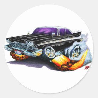 1958 Plymouth Fury Black Car Stickers
