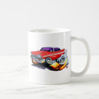 1958 Plymouth Fury Red Car Classic White Coffee Mug