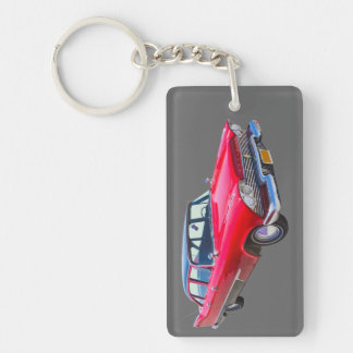 1958 Plymouth Savoy Classic Antique Car Key Chain