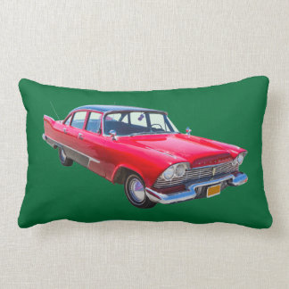 1958 Plymouth Savoy Classic Antique Car Lumbar Pillow